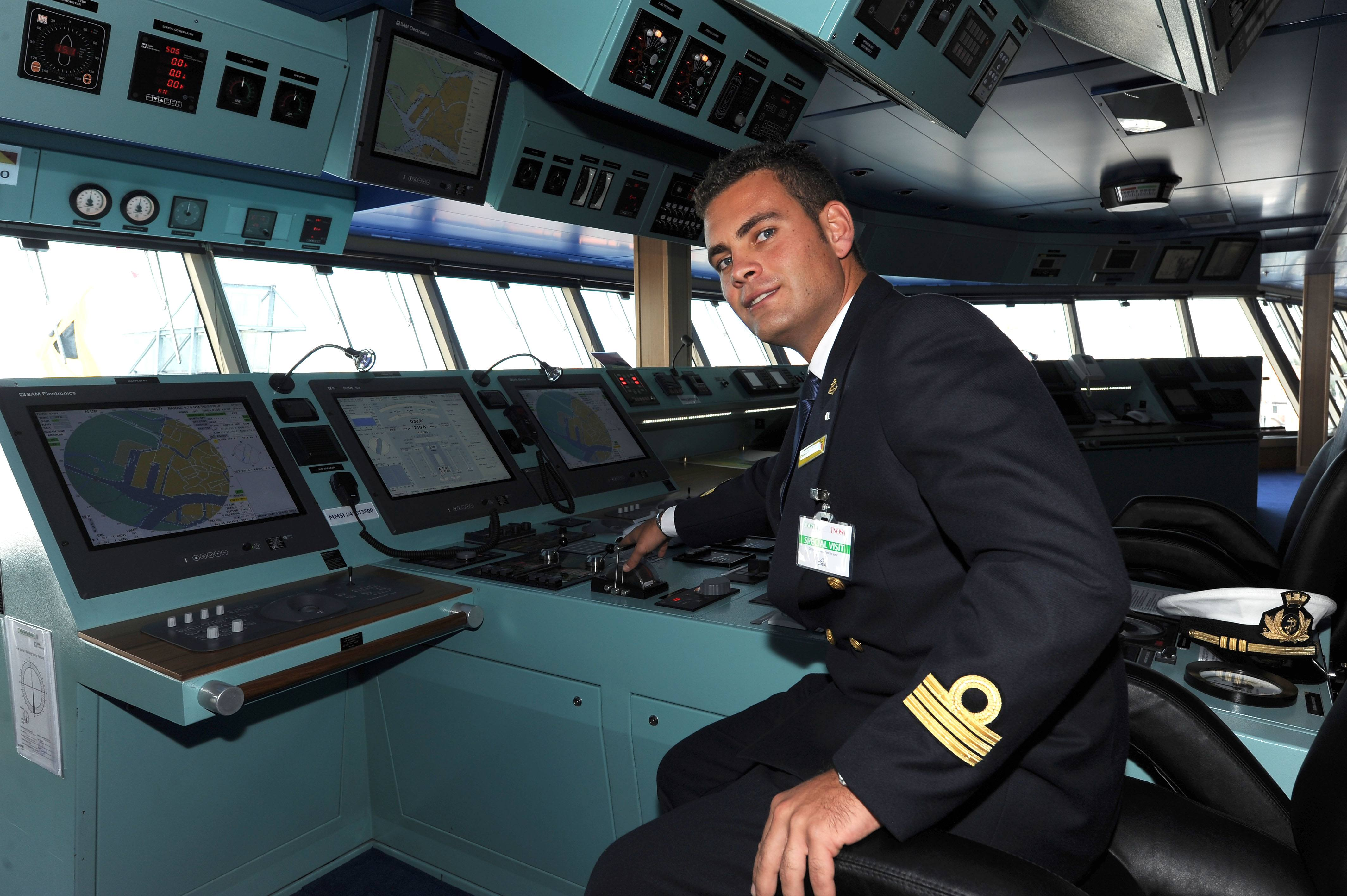 A crew member of the Costa Fascinosa, th