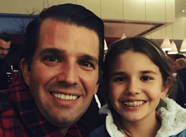 Donald Trump Jr. with his daughter.
