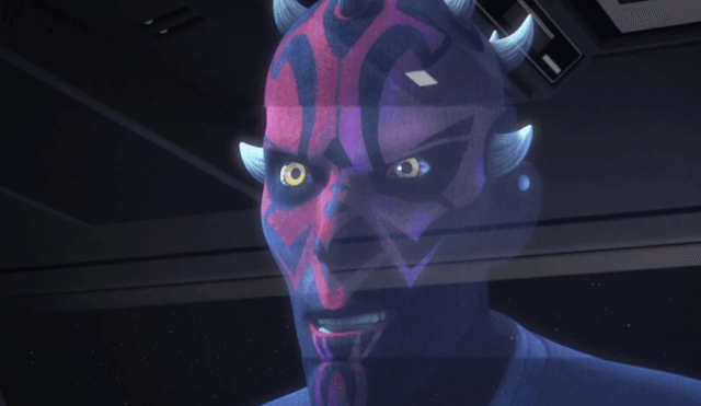 Death Maul in a hologram.