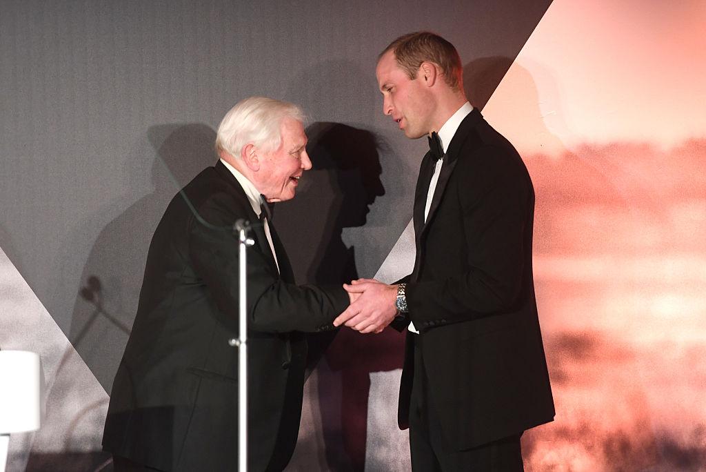 Prince William and David Attenborough