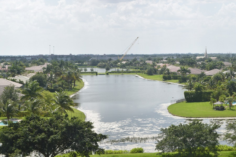 A view of Community Lake in Davie, Florida