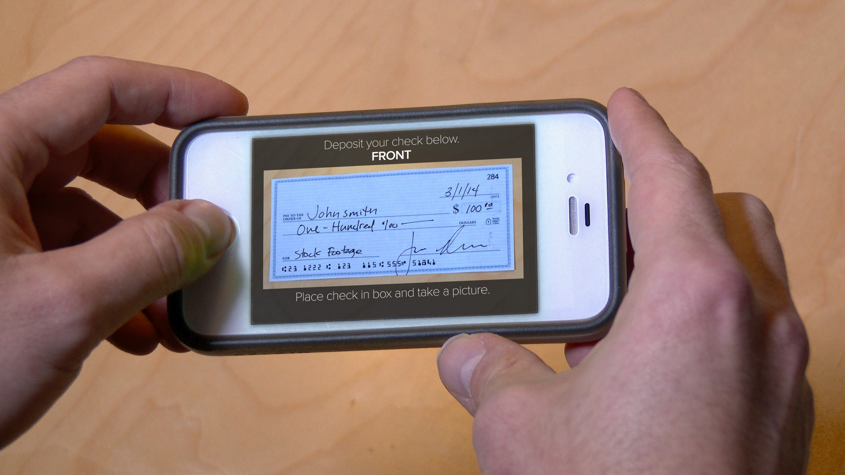 Depositing a Check with Cell Phone