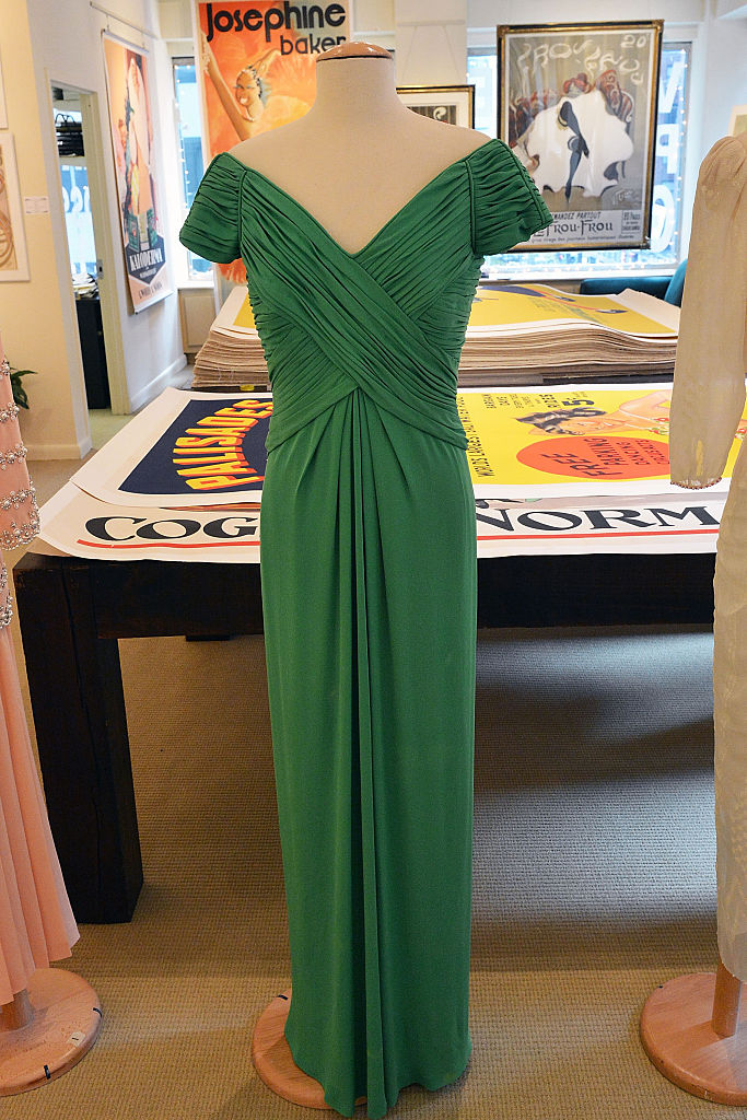 A chartreuse Taroni silk georgette Catherine Walker gown worn by HRH Princess Diana