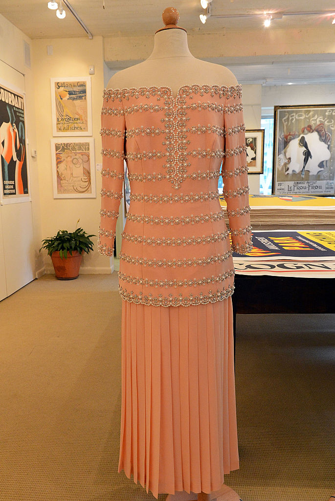 A petal pink silk Catherine Walker gown double worn by HRH Princess Diana