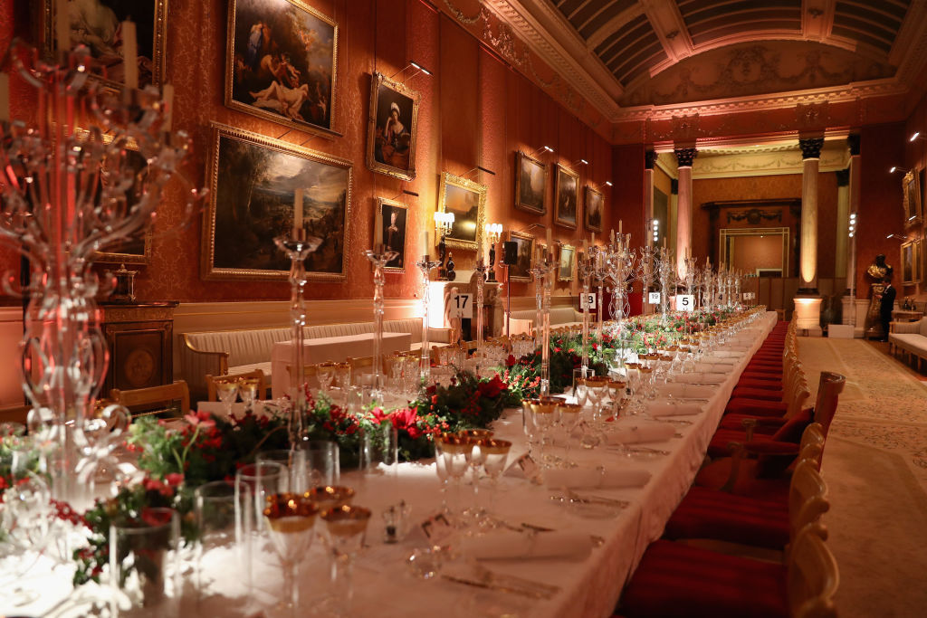 A general view a the 'One Million Young Lives' dinner at Buckingham Palace