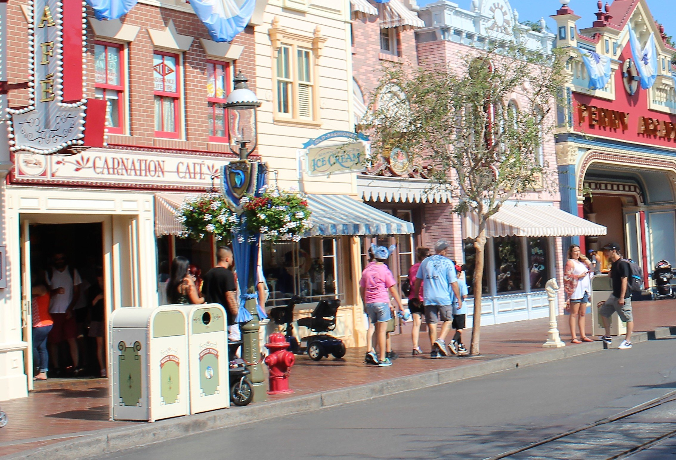 Disney trash cans main street