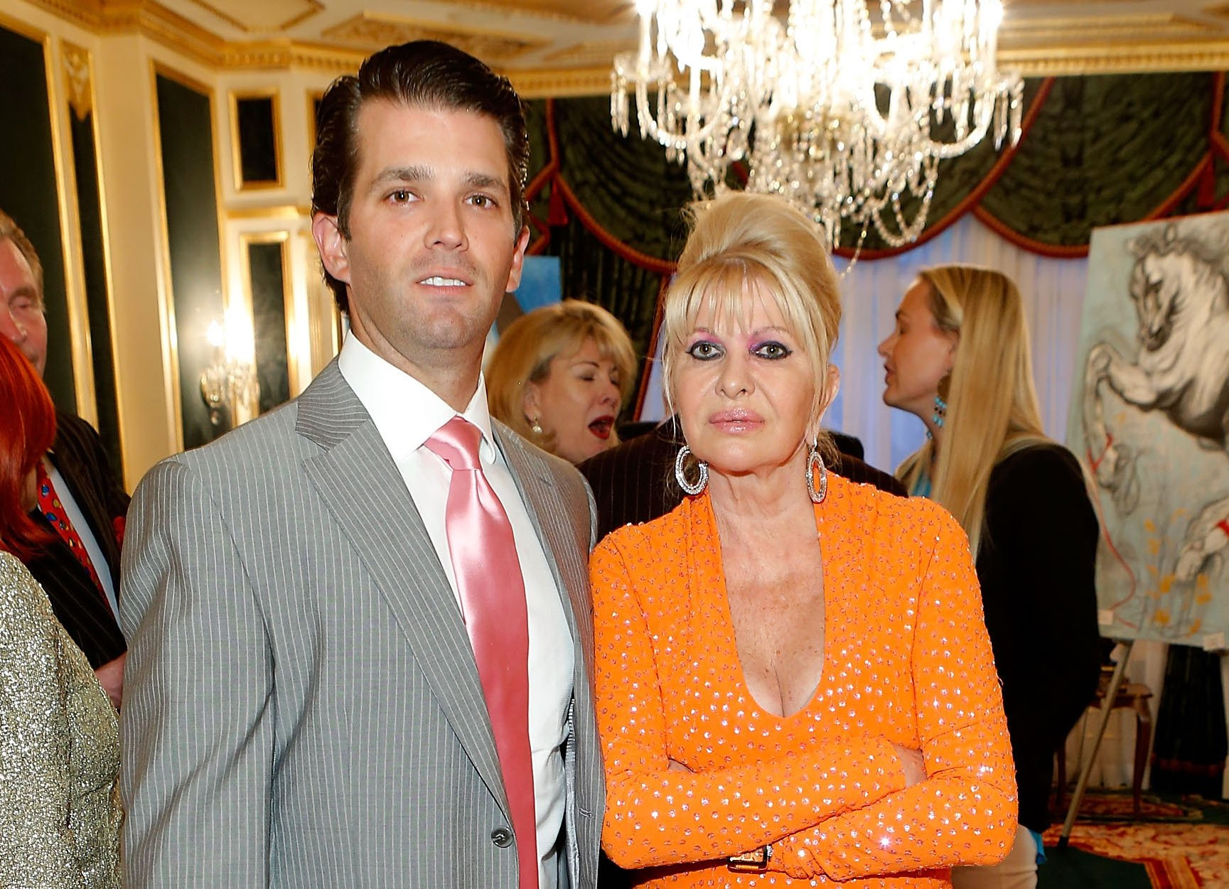 Ivana Trump and Donald Trump Jr.