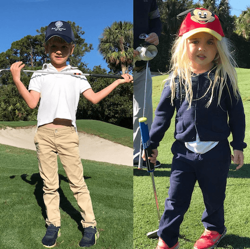 Donald Trump Jr.'s children playing golf.