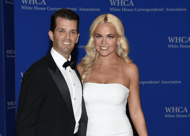 Donald Jr. and Vanessa Trump on a red carpet.