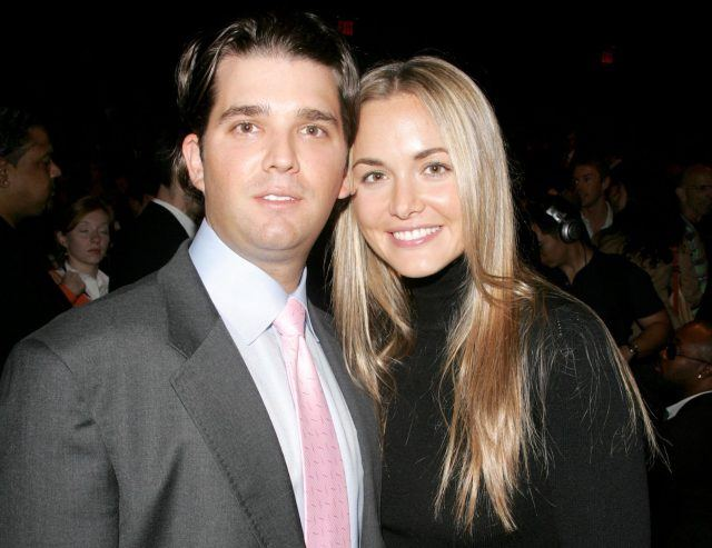 Donald Trump Jr and Vanessa Trump posing for a photo together.