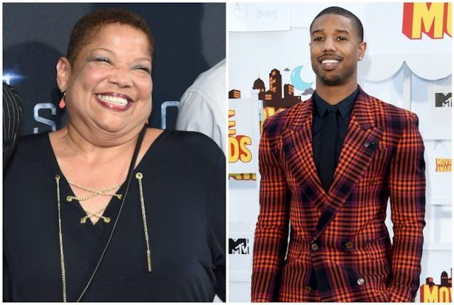 Michael B. Jordan and his mother, Donna.