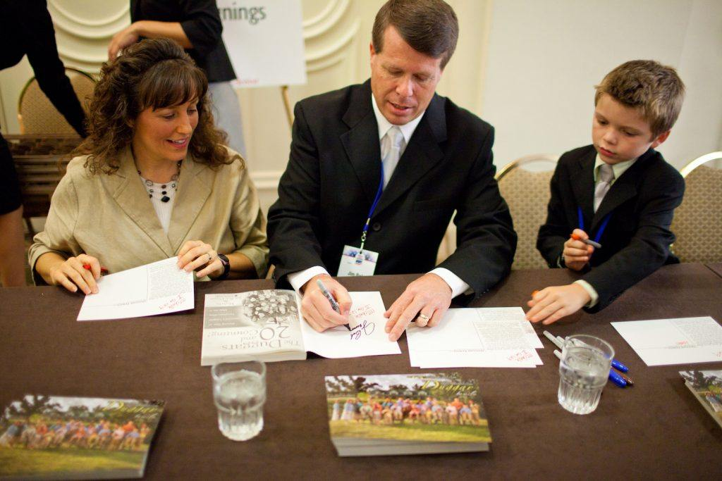 "Jim Bob & Michelle Duggar Of TLC's ""19 Kids and Counting"" Book Signing"