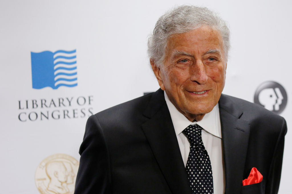 US singer Tony Bennett arrives for the Library of Congress Gershwin Prize Tribute Concert in his honor in Washington