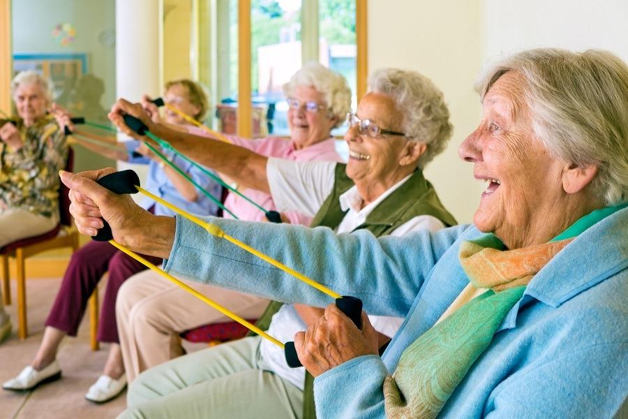 elderly ladies workout