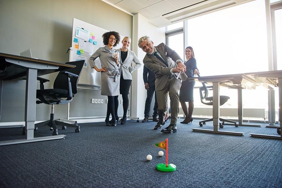 People enjoying in office