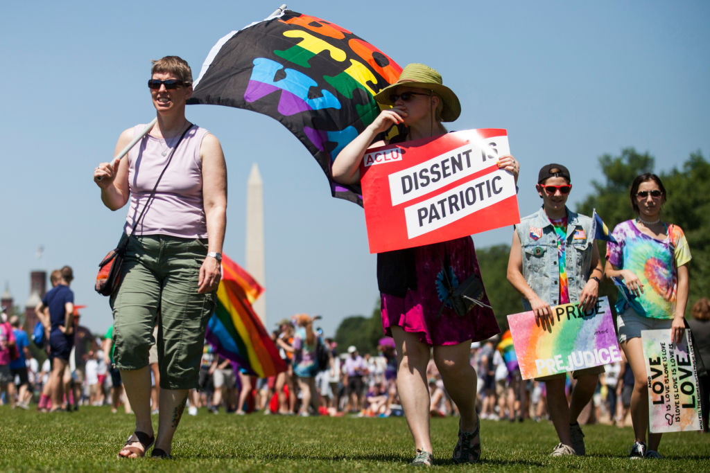 Thousands Gather For Equality March For Unity And Peace In Washington DC