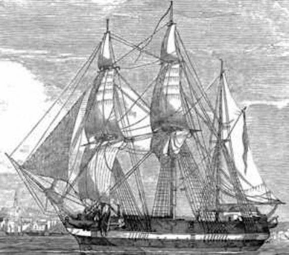 An illustration of the Erebus.
