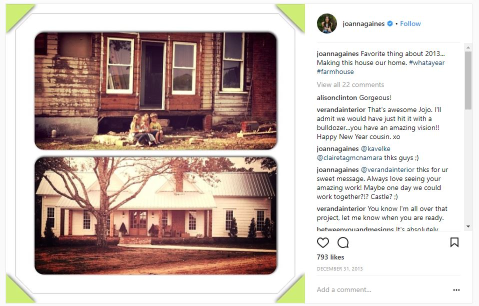 Farmhouse of Chip and Joanna Gaines