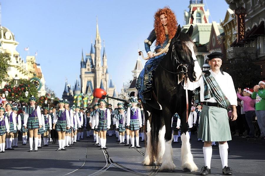 Disney parade with a horse