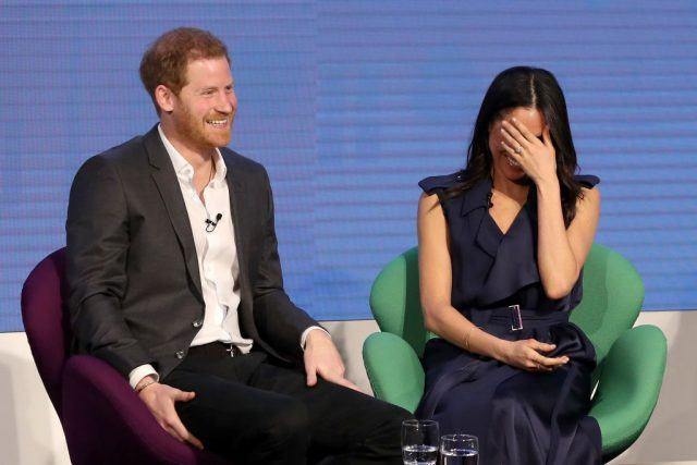 Prince Harry and Meghan Markle attend the first annual Royal Foundation Forum.