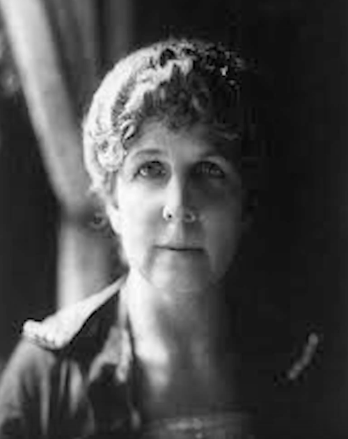 Florence Harding in a black and white photograph.