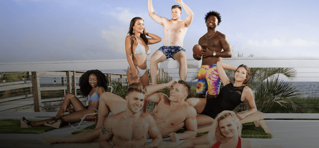 The cast of 'Floribama Shore' at the beach.