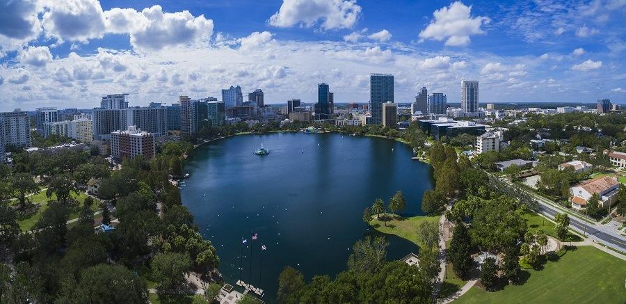 Lake Eola Orlando, Florida.
