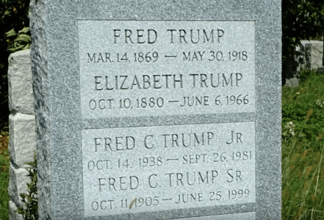 Fred and Freddy Trump's graves.