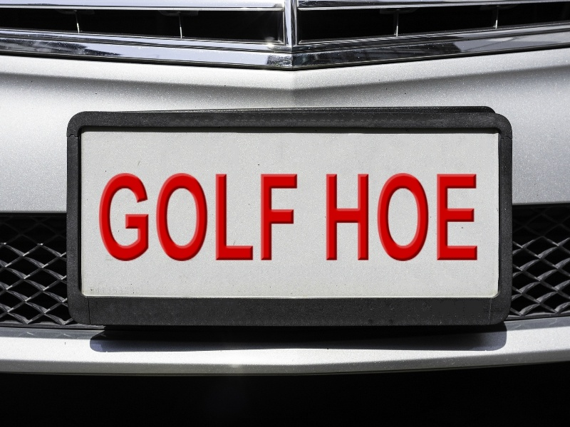 GOLF HOE licence plate