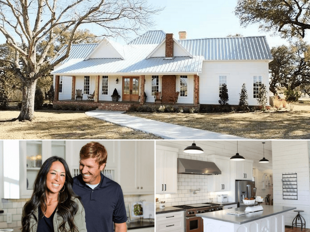 The Gaines couple and their gorgeous farmhouse