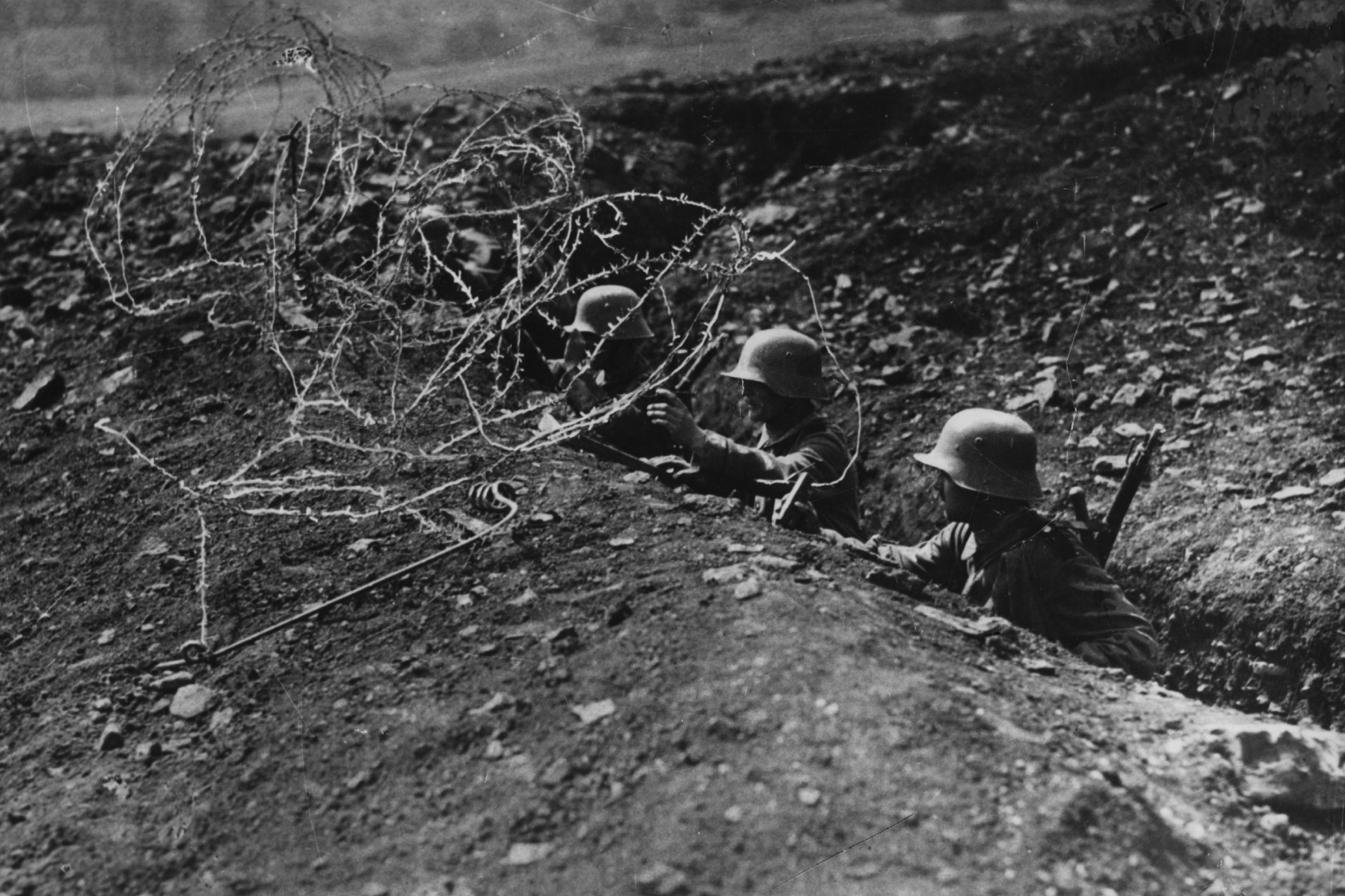 German soldiers during wwi in the trenches