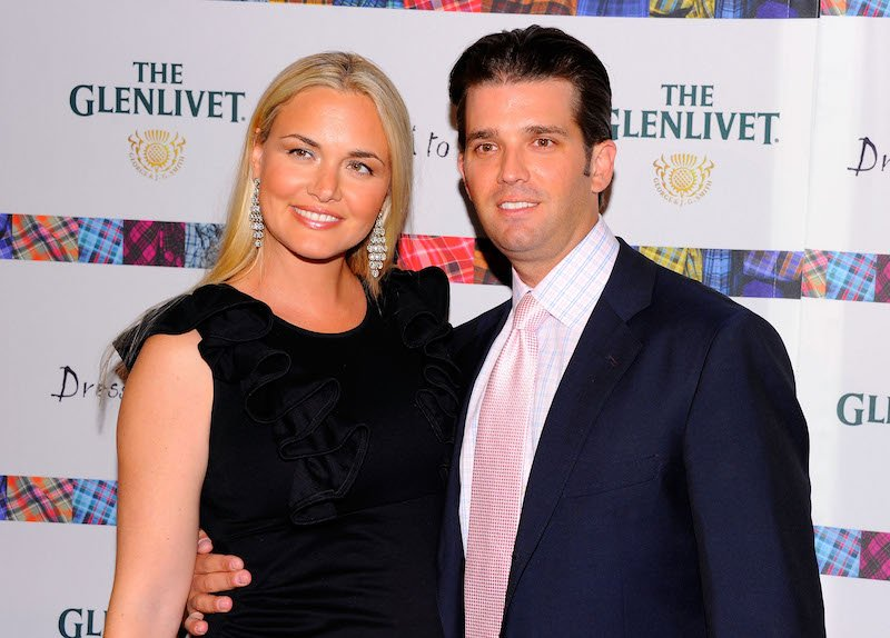 """Vanessa Trump and Donald Trump Jr. attend the 9th Annual """"Dressed To Kilt"""" charity fashion show at Hammerstein Ballroom on April 5, 2011 in New York City."""