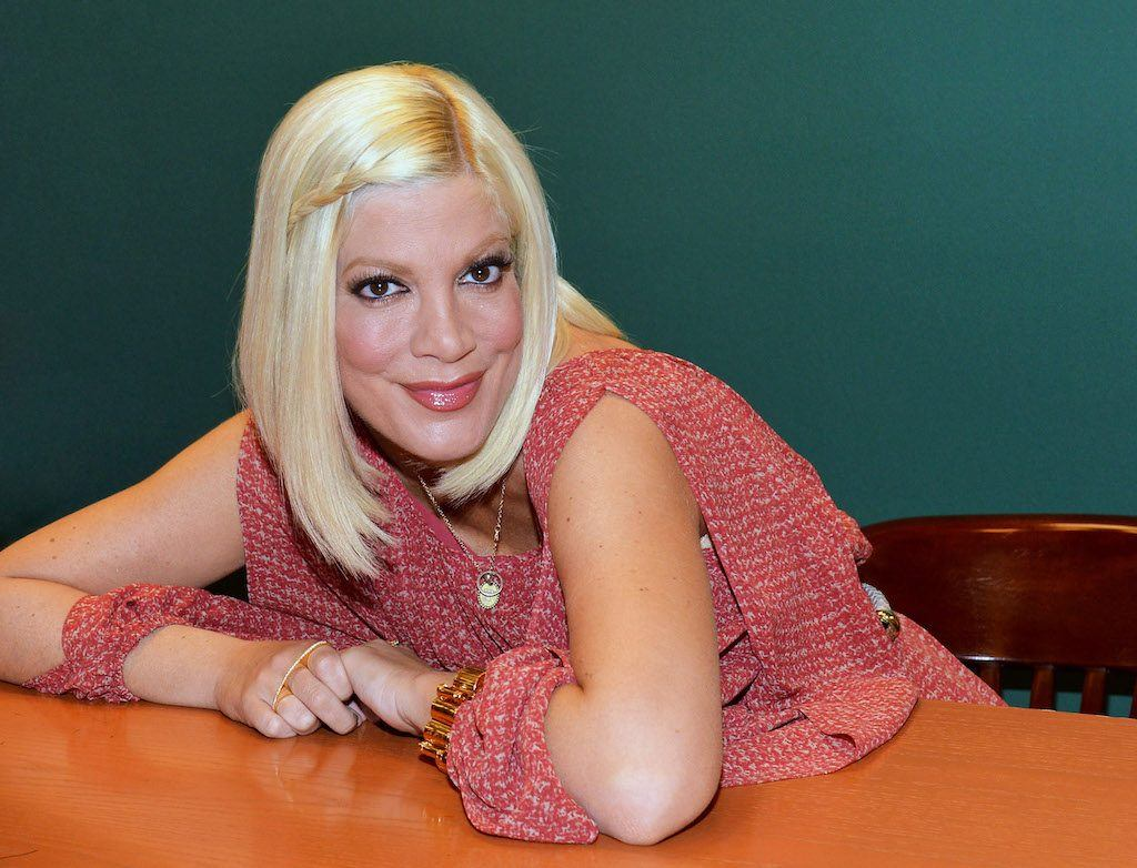 "Tori Spelling promotes ""CelebraTORI"" 