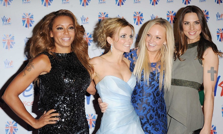 Melanie Brown, Geri Halliwell, Emma Bunton and Melanie Chisholm of The Spice Girls