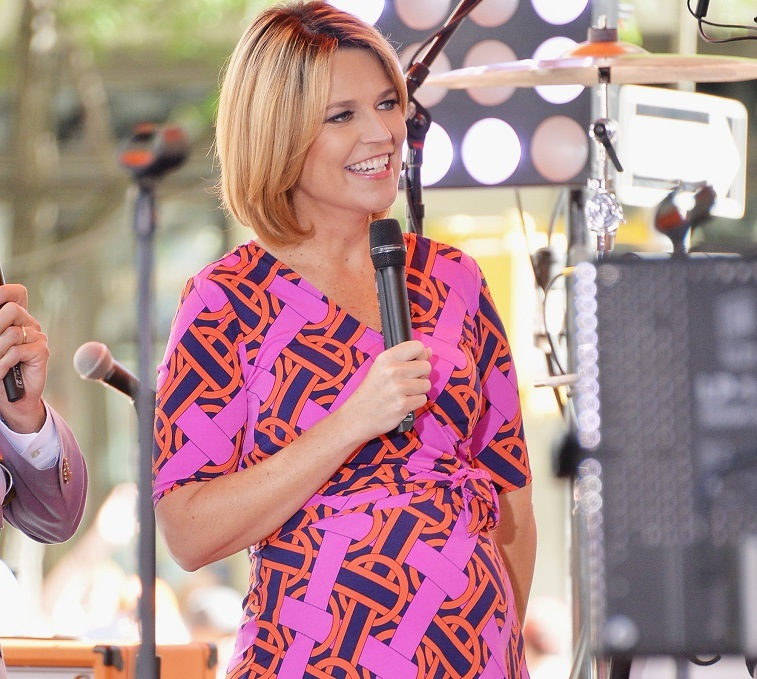 """Today"" co-host Savannah Guthrie speaks to the crowd on NBC's ""Today"" at the NBC's TODAY Show on June 20, 2014 in New York, New York."
