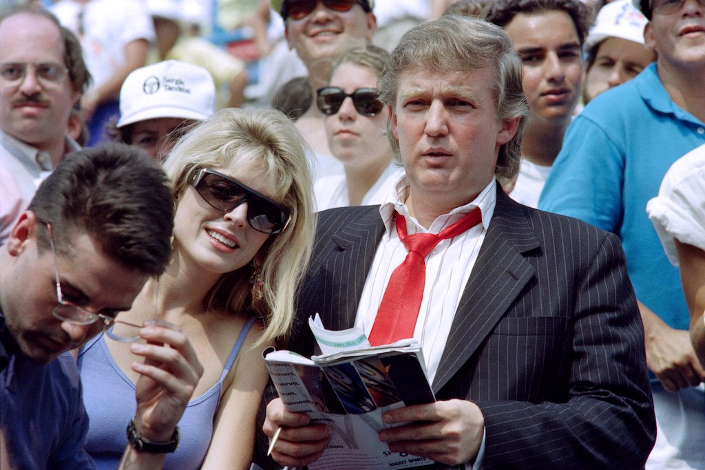 Donald Trump and Marla Maples in 1991