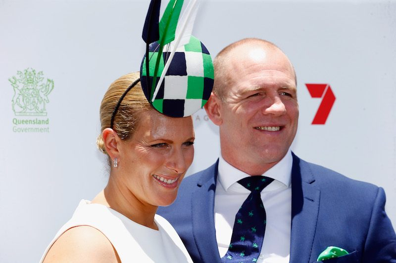 GOLD COAST, AUSTRALIA - JANUARY 14: Zara Phillips and Mike Tindall attend the Magic Millions Raceday on January 14, 2017 in Gold Coast, Australia. (Photo by Jason O'Brien/Getty Images)