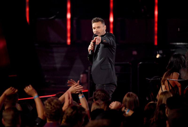 INGLEWOOD, CA - MARCH 05: Host Ryan Seacrest speaks onstage at the 2017 iHeartRadio Music Awards which broadcast live on Turner's TBS, TNT, and truTV at The Forum on March 5, 2017 in Inglewood, California. (Photo by Kevin Winter/Getty Images for iHeartMedia)