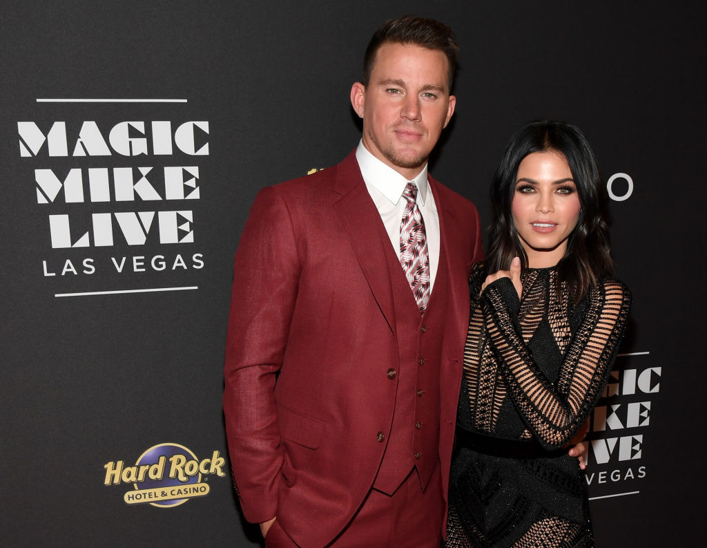 """Actor Channing Tatum (L) and actress Jenna Dewan Tatum attend the grand opening of """"Magic Mike Live Las Vegas"""" at the Hard Rock Hotel & Casino on April 21, 2017 in Las Vegas, Nevada."""