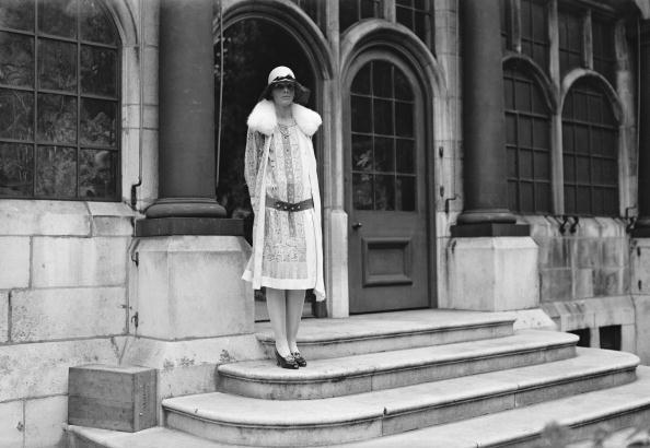 American aviatrix, Amelia Earhart (1898 - 1937) at the house of the Hon