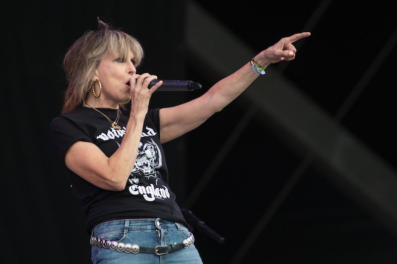 Chrissie Hynde, of The Pretenders, performs on the Other Stage at the Glastonbury Festival of Music and Performing Arts on Worthy Farm near the village of Pilton in Somerset, south-west England on June 23, 2017. / AFP PHOTO / OLI SCARFF (Photo credit should read OLI SCARFF/AFP/Getty Images)
