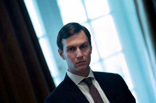 Senior Advisor Jared Kushner waits for a meeting with Prime Minister of Malaysia