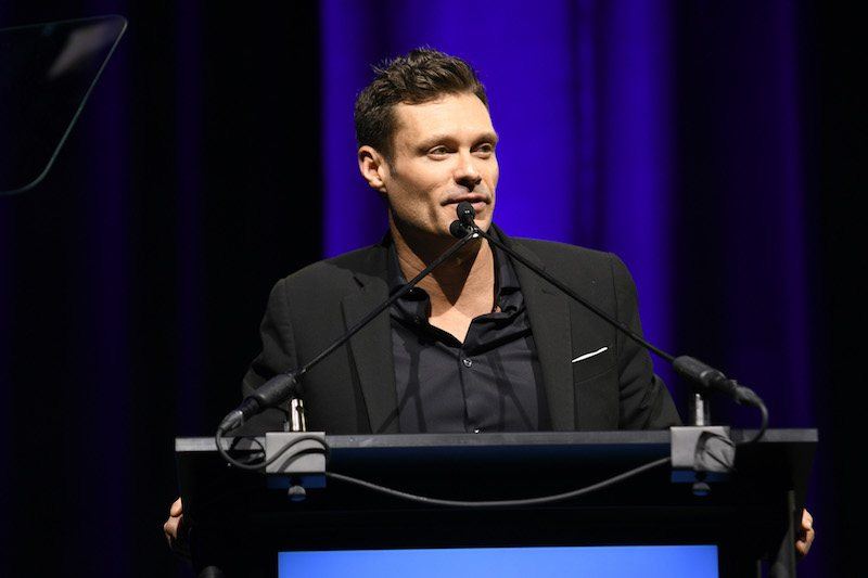NEW YORK, NY - JANUARY 30: Ryan Seacrest presents welcome remarks at the 11th Annual Exploring the Arts Gala hosted by Tony Bennett and Susan Benedetto at The Ziegfeld Ballroom on January 30, 2018 in New York City. (Photo by Gary Gershoff/Getty Images for Exploring The Arts)