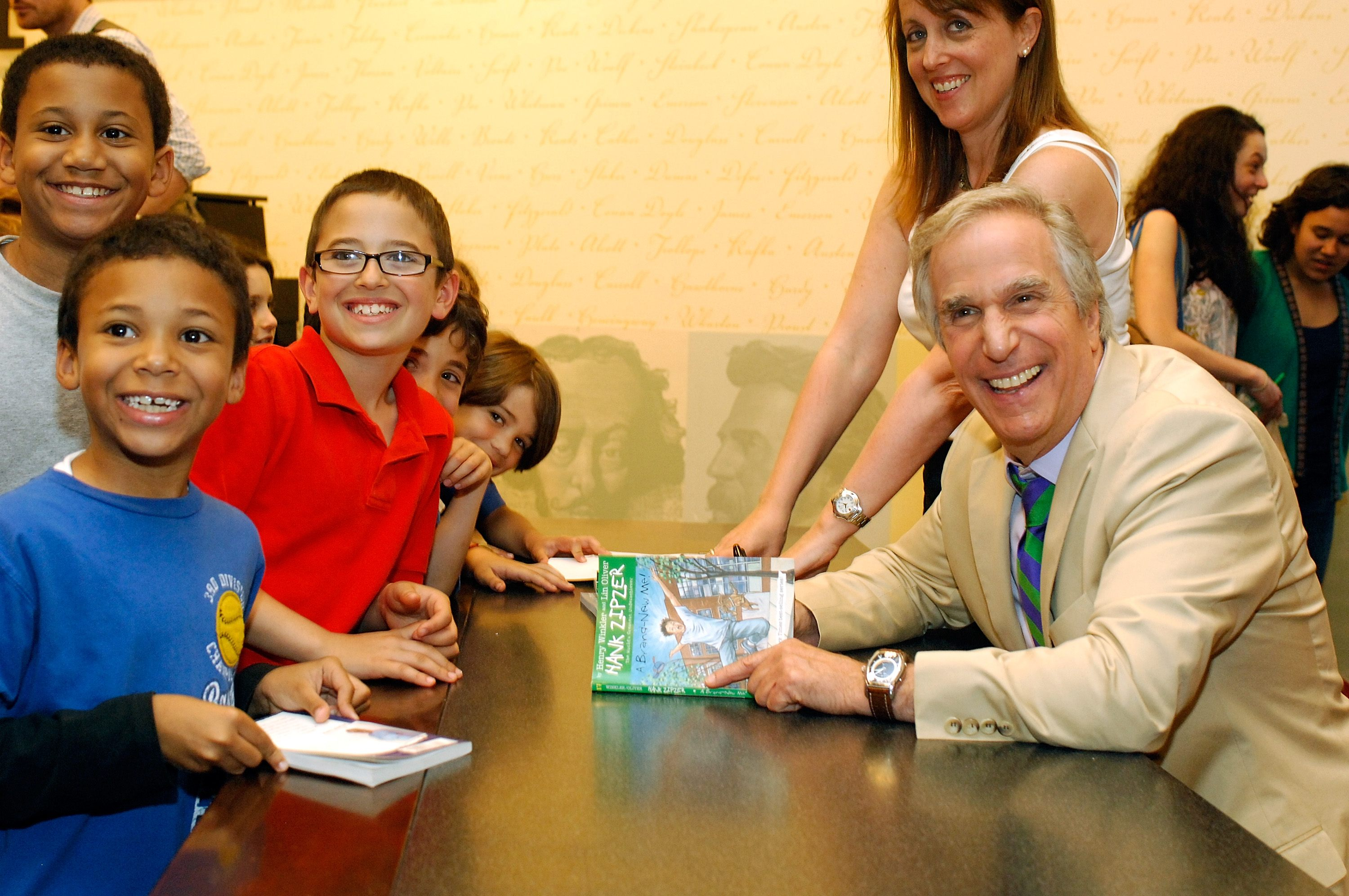 """Author Henry Winkler signs copies of his new book """"A Brand New Me!"""" at Barnes & Noble, Lincoln Triangle on May 7, 2010 in New York City."""