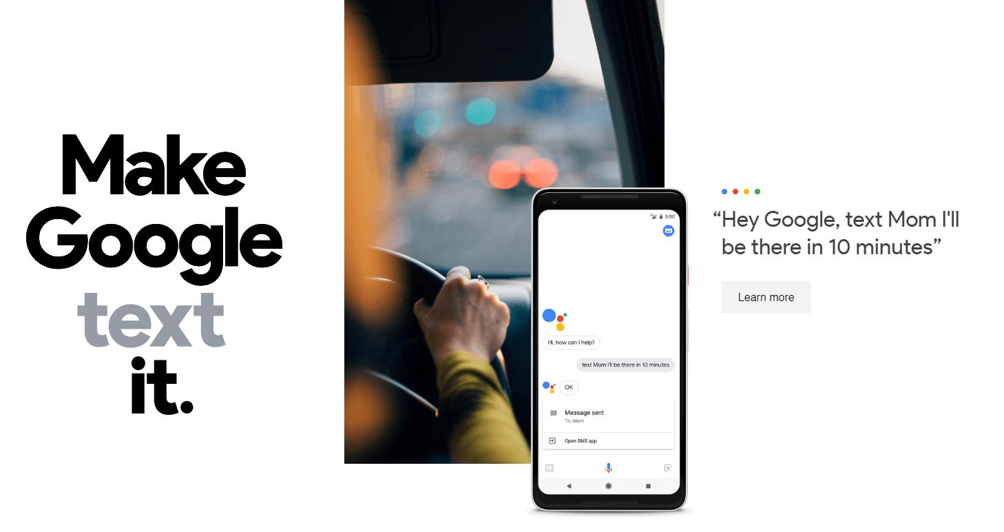 Google Home Text