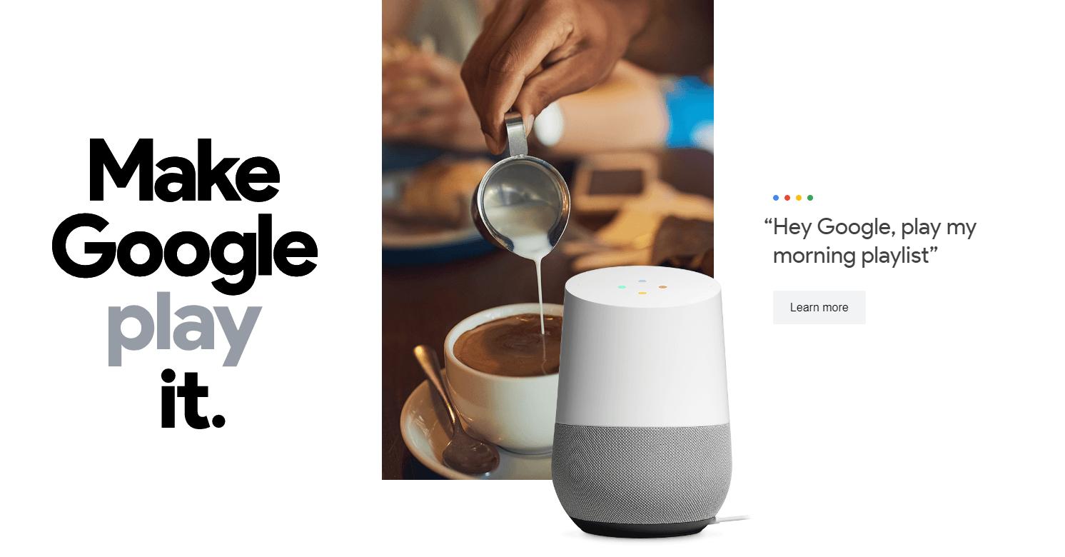 Google Home playlist