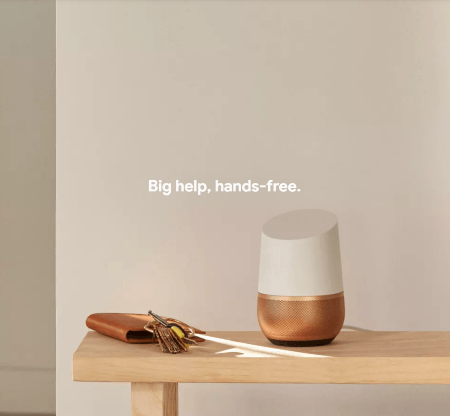 Google home hands free