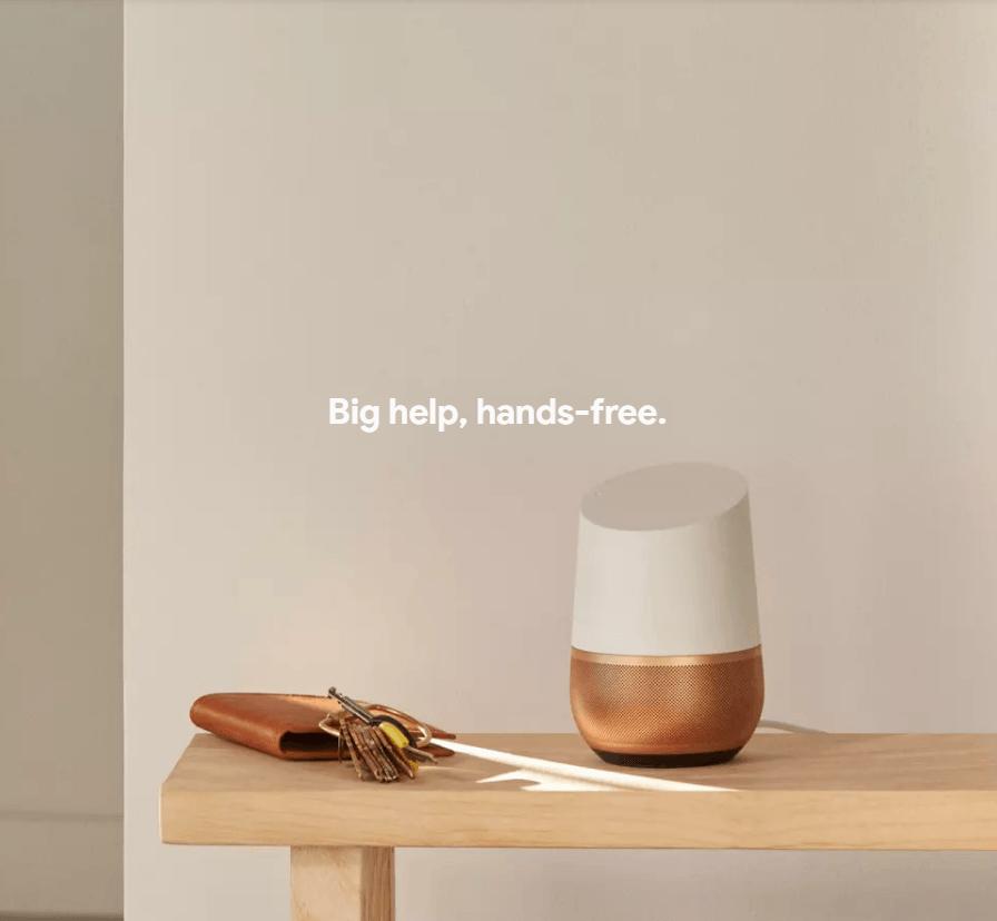 Google home hands free