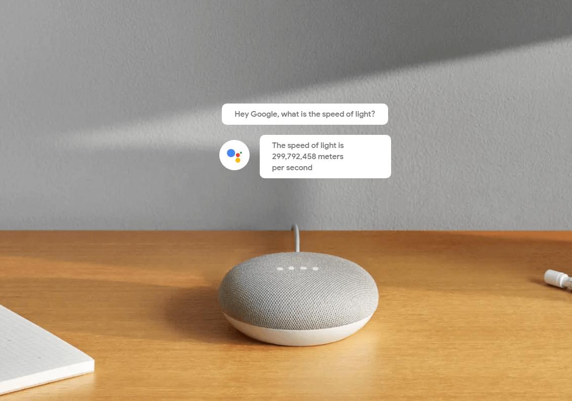 Google home speed of light