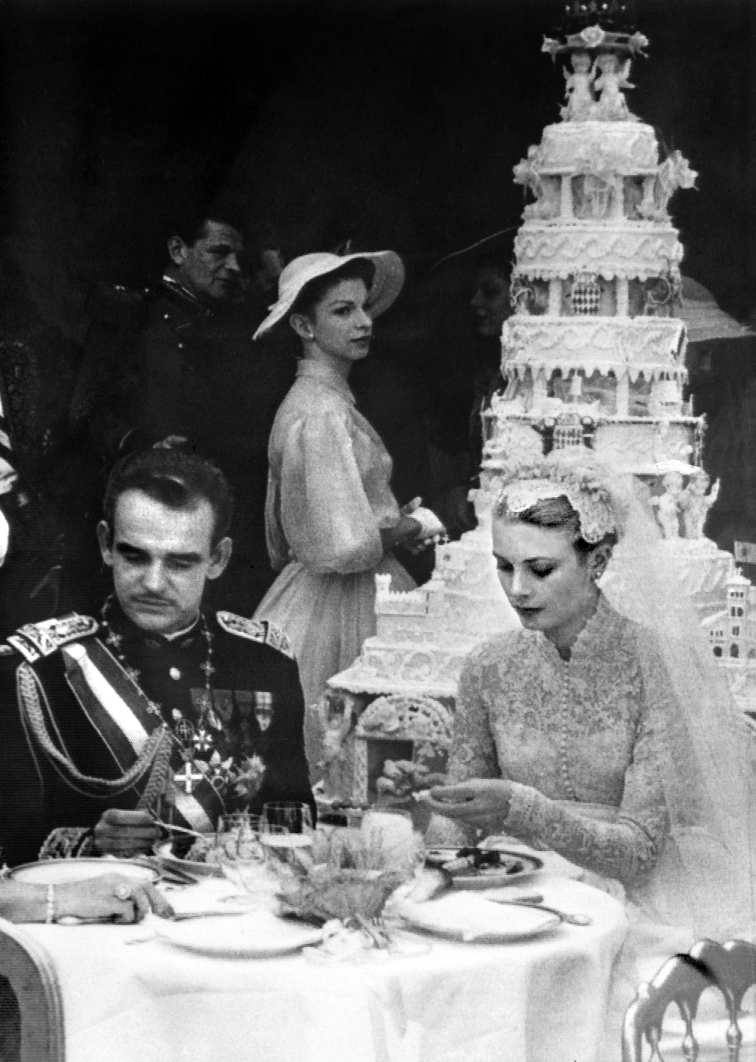 Prince Rainier III of Monaco and US actress Grace Kelly wedding